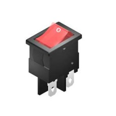 SE298 Rocker Switch 4A DPST On Off Illuminated Red