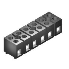 SE010 Terminal Block 6Way Sq. 15A